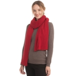 CS0155 Basic Solid Color Winter Scarf, Burgundy