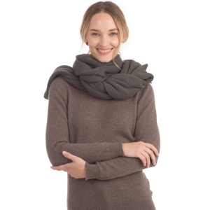 CS0155 Basic Solid Color Winter Scarf, Charcoal