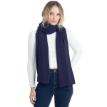 CS0155 Basic Solid Color Winter Scarf, Navy