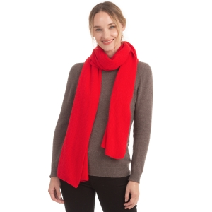 CS0155 Basic Solid Color Winter Scarf, Red