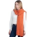 CS0155 Basic Solid Color Winter Scarf, Rust