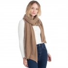 CS0155 Basic Solid Color Winter Scarf, Taupe