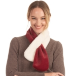 CS0158 Two Tones Slit Scarf, Burgundy