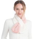 CS0158 Two Tones Slit Scarf, Pink