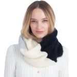 CS0160 Multi Colors Infinity Scarf, Black