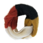 CS0160 Multi Colors Infinity Scarf, Mustard