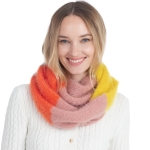 CS0160 Multi Colors Infinity Scarf, Yellow