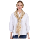 CS1001 Water Striped Tie-dye Pattern Scarf, Taupe