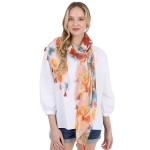CS1006 Flower Tie-dye Pattern Scarf, Orange
