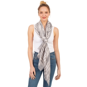CS1031 Watercolor Tie-dye Lightweight Scarf, Grey