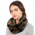 CS1103 Faux Fur Camouflage Infinity Scarf
