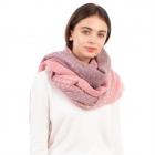 CS1112 Ombre Color w/Color Stitch Oblong Scarf, Pink