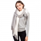 CS1132 Double Size Two Tone Winter Scarf, Ivory