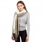 CS1132 Double Size Two Tone Winter Scarf, Olive