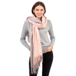 CS1132 Double Size Two Tone Winter Scarf, Pink
