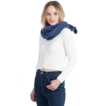 CS0155 Basic Solid Color Winter Scarf, Blue