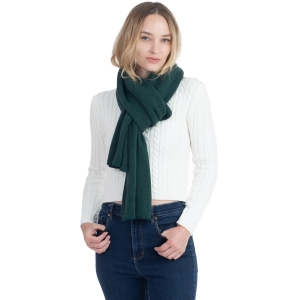 CS0155 Basic Solid Color Winter Scarf, Hunter Green