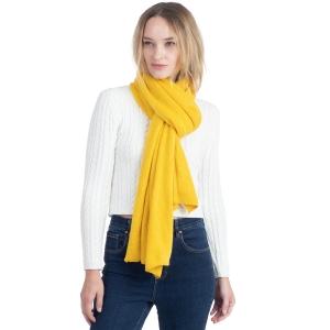 CS0155 Basic Solid Color Winter Scarf, Mustard
