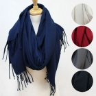 CS2507 Solid Color Overlong Scarf