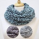 CS2520 Two Tone Knit Soft Infinity