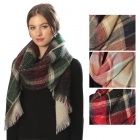 CS6001 Plaid Pattern Scarf