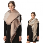 CS6002 Check Pattern Scarf with Diagonal Ends