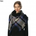 CS6003 Striped Square Scarf/shawl