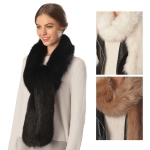 CS6009 Faux Fur Long Scarf