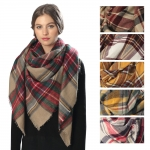 CS6012 Square Plaid Scarf
