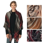 CS6017 Multi-Striped Square Scarf