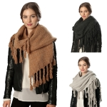 CS6026 3-EDGE FRINGED SCARF
