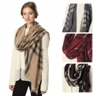 CS6029 Wide Plaid Scarf