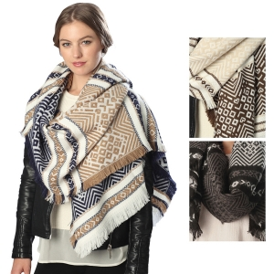 CS6041 Mixed Patterned Scarf
