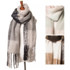 CS6048 Fringed Scarf with Brushed Finish