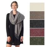 CS6049 Cashmere Feel Fringed Scarf