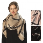 CS6055 CHECK PATTERN SQUARE SCARF