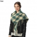 CS6061 CHECK PATTERN SCARF WITH FRINGE