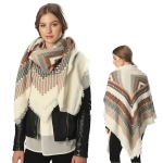CS6063 GEOMETRIC PATTERN SCARF