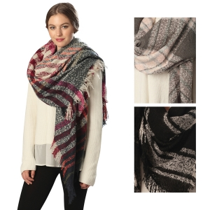 CS6066 MIXED PLAID SCARF