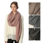 CS6071 SOLID WOOL MODAL MIX SCARF