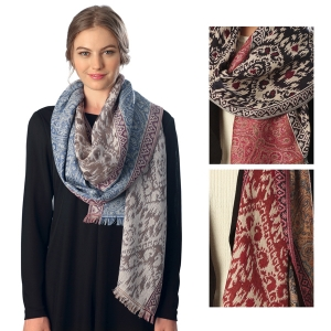 CS6072 MIXED ANTIQUE PATTERN SCARF