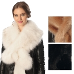 CS6075 LUXURIOUS FAUX FUR SCARF WITH SLIT