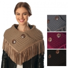 CS6081 Neck warmer with Faux Suede Fringes