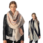 CS6082 Mixed Stripe Scarf