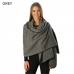 CS6090 Solid Oblong Winter Scarf with Thread Edge