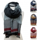 CS6093 Color Block Stripe Scarf