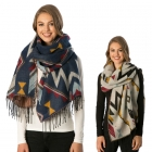 CS6095 Aztec Pattern Winter Scarf