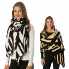 CS6097 Geometric Patterned Soft Winter Scarf
