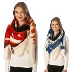 CS6099 Abstract Pattern Square Soft Scarf