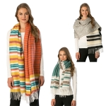 CS6103 Multi-color Striped Scarf